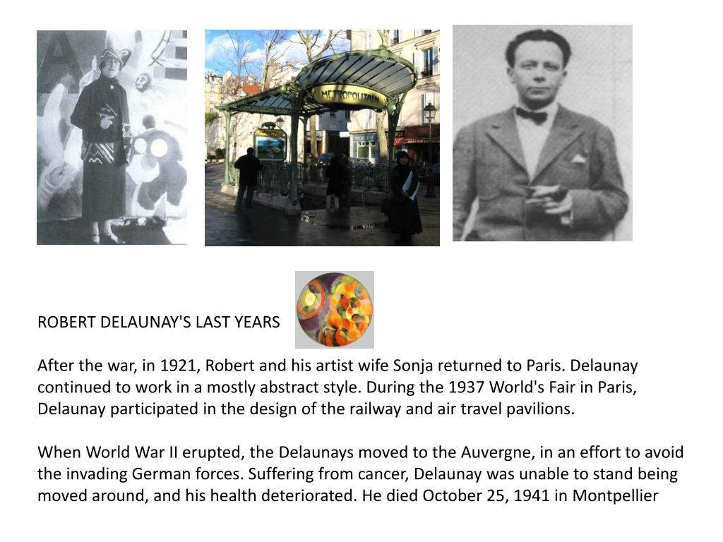 ROBERT DELAUNAY'S LAST YEARS