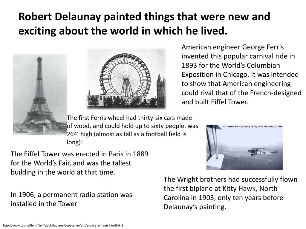 Robert Delaunay painted things that were new and exciting about the world in which he lived.