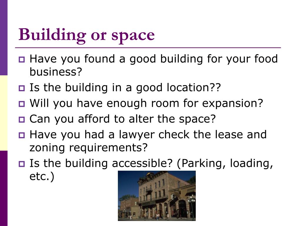Building or space