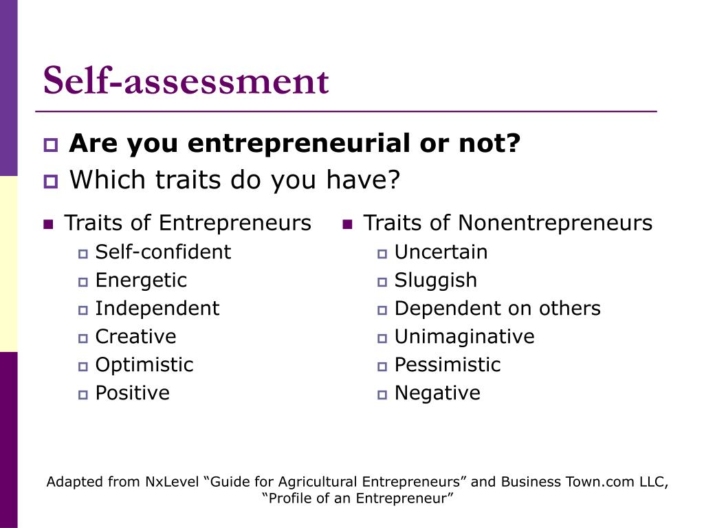 Are you entrepreneurial or not?