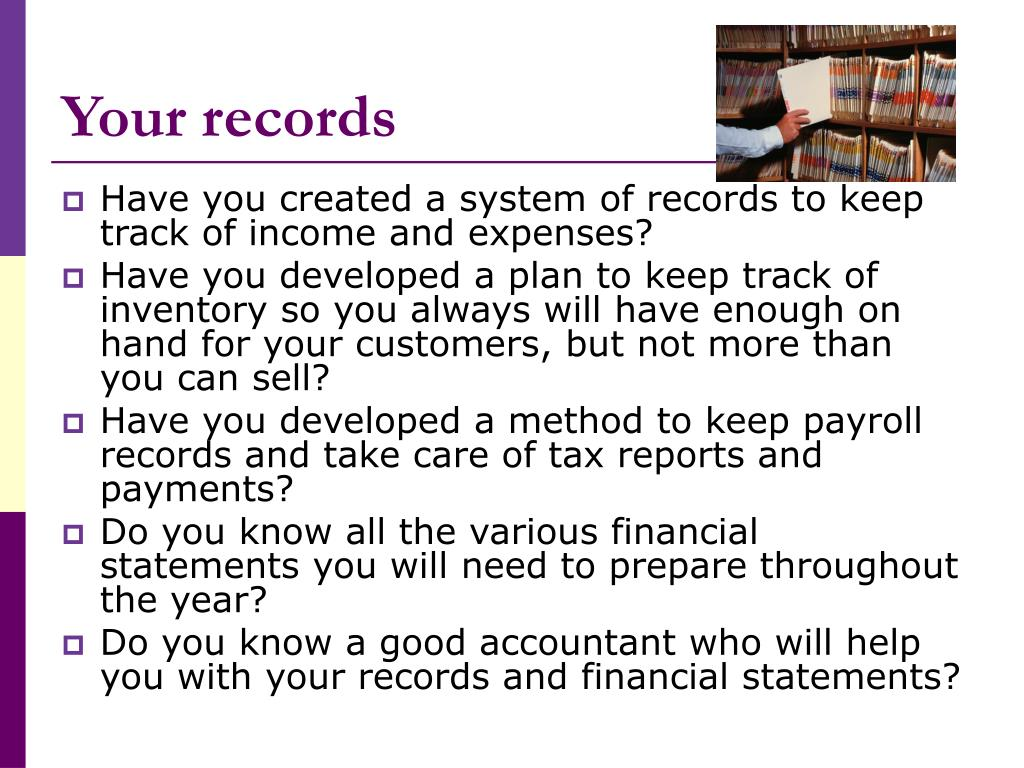 Your records