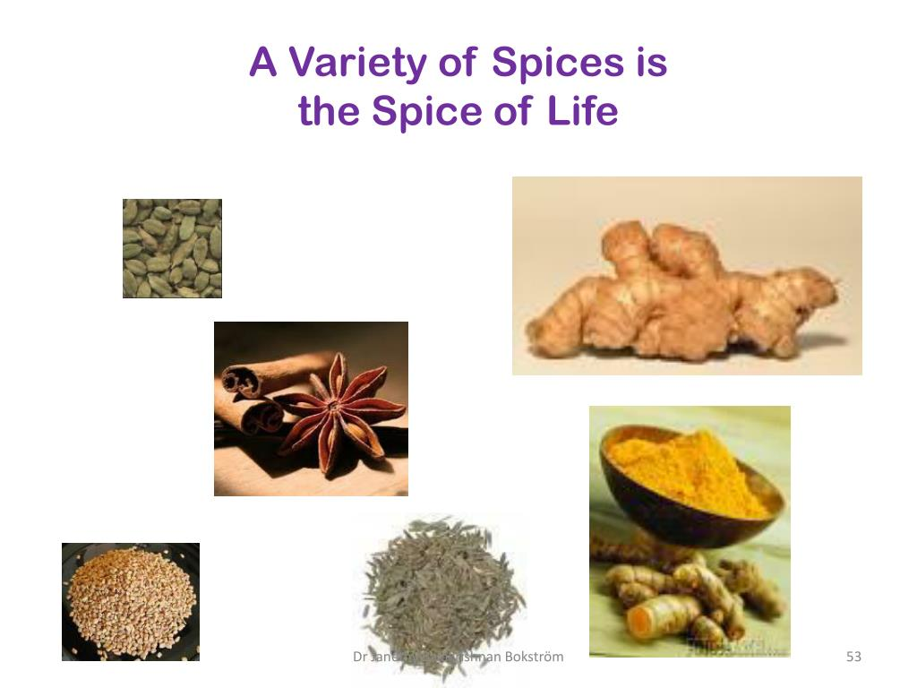 A Variety of Spices is