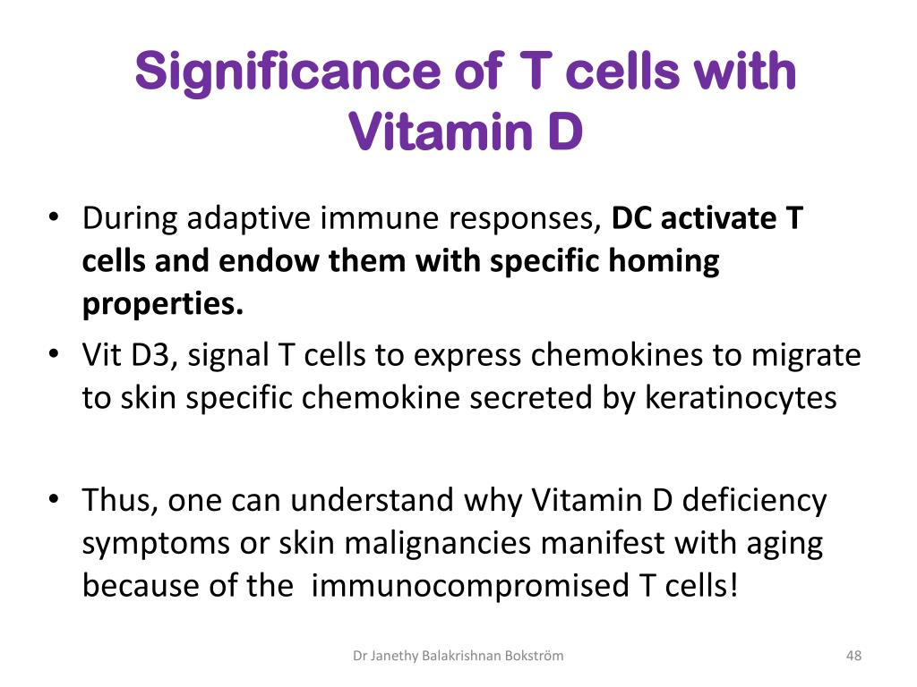 Significance of T cells with Vitamin D