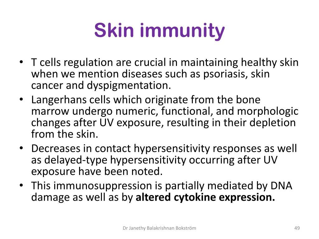 Skin immunity