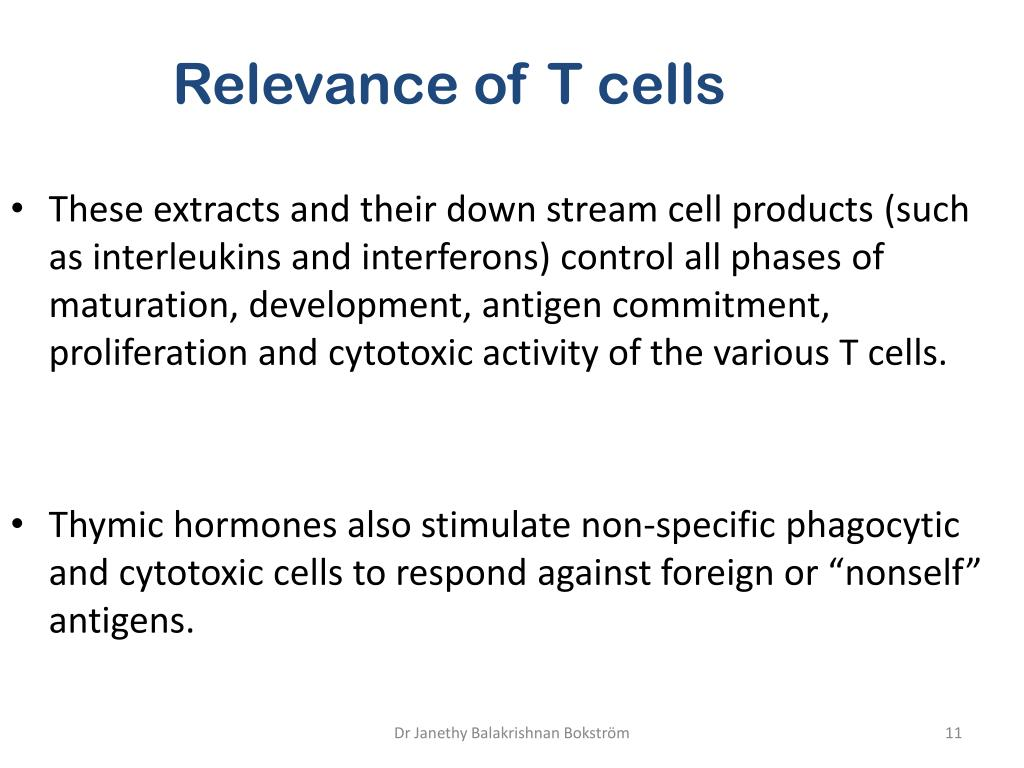 Relevance of T cells