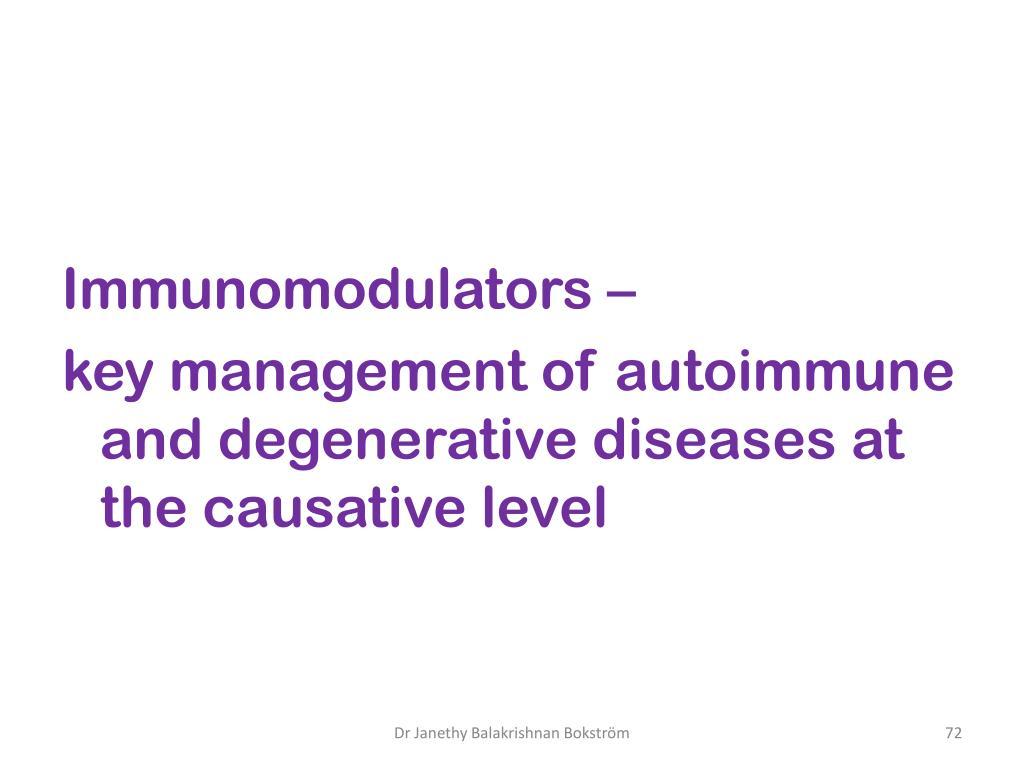 Immunomodulators –