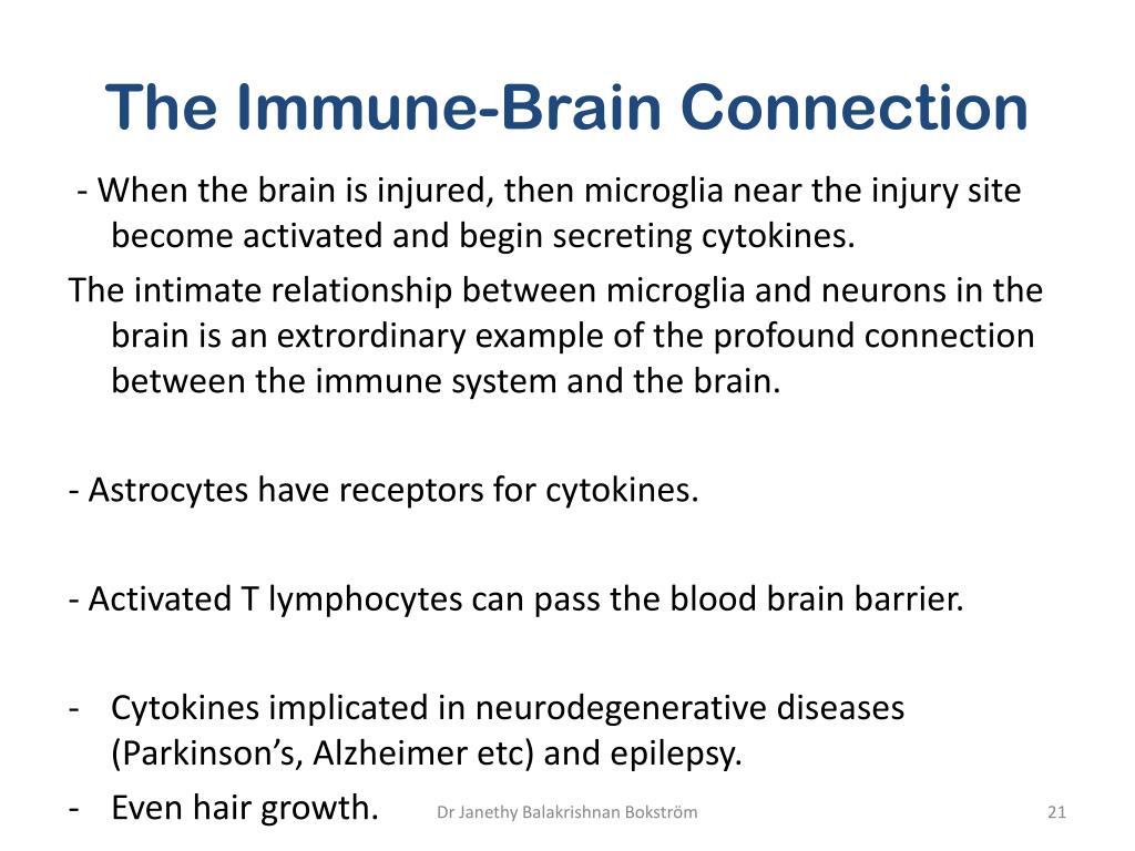 The Immune-Brain Connection