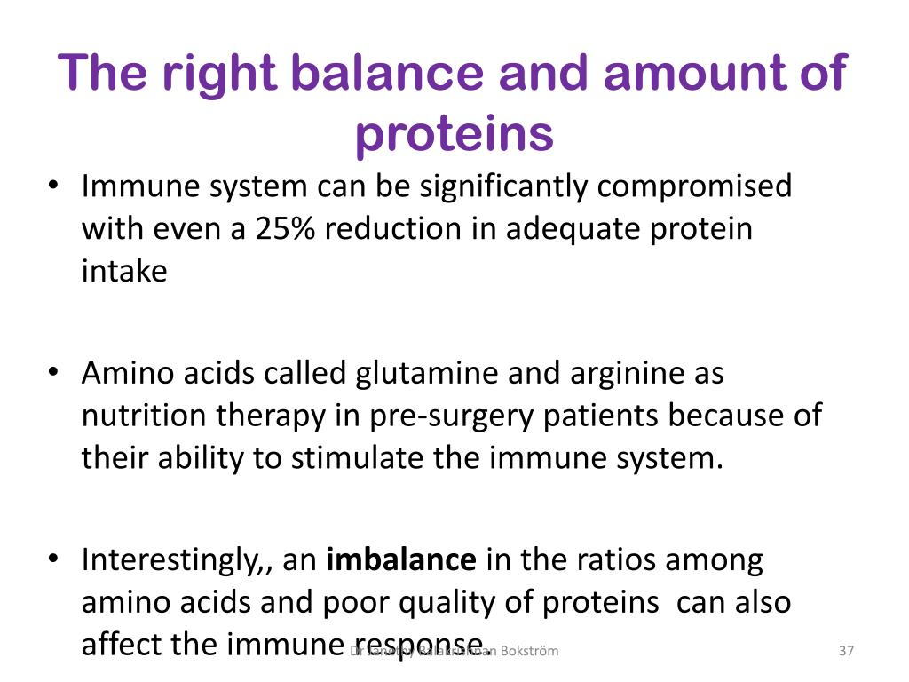 The right balance and amount of proteins