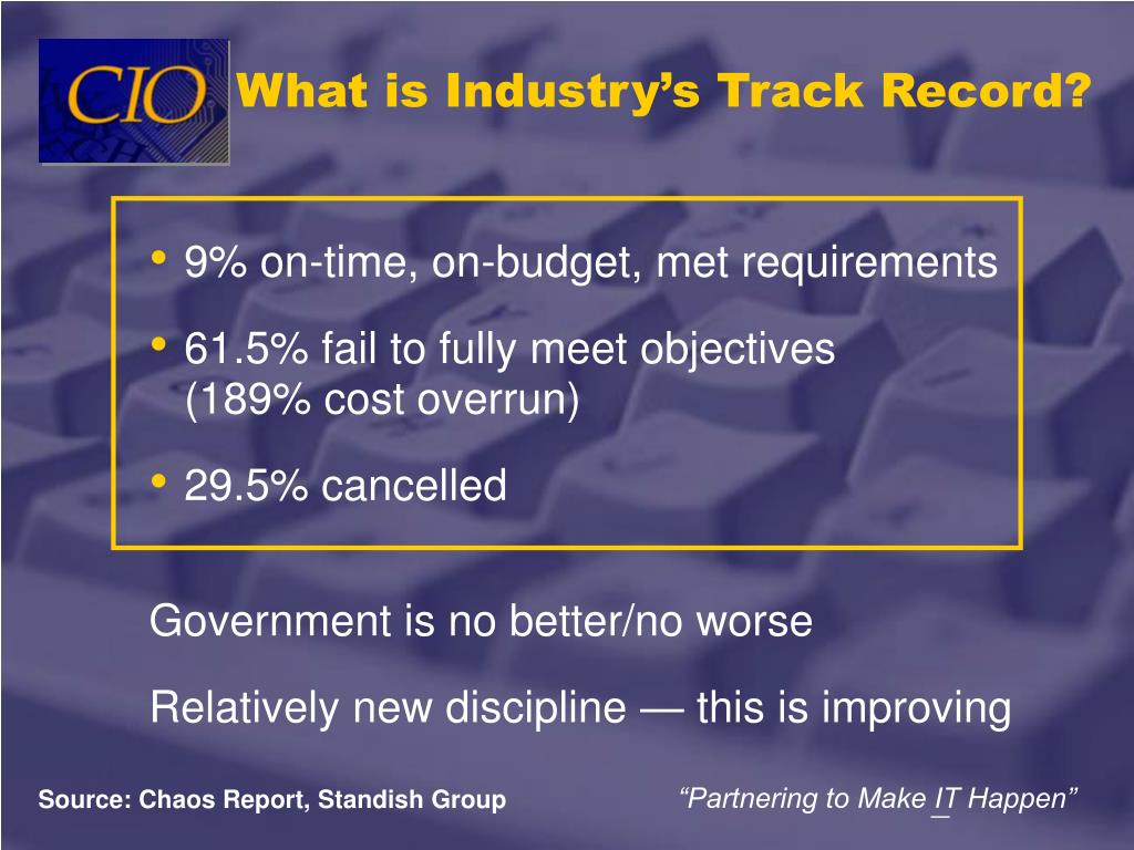 What is Industry's Track Record?