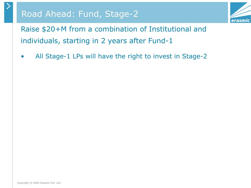 Road Ahead: Fund, Stage-2