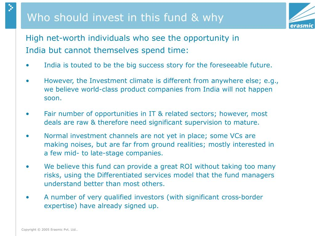 Who should invest in this fund & why