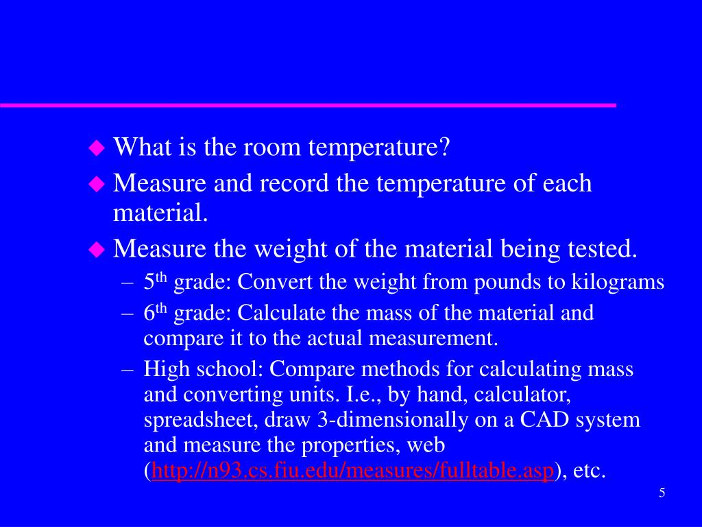 What is the room temperature?