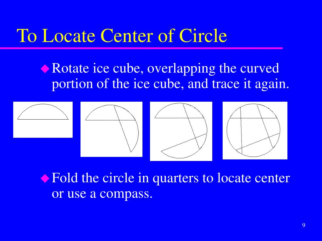 To Locate Center of Circle