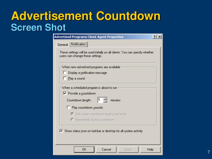 Advertisement Countdown