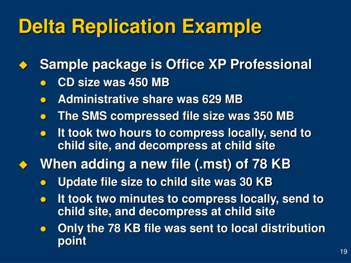 Delta Replication Example