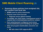 sms mobile client roaming 2