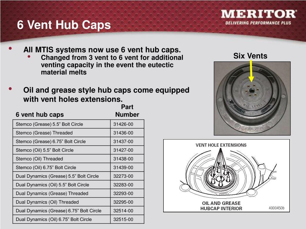 6 Vent Hub Caps