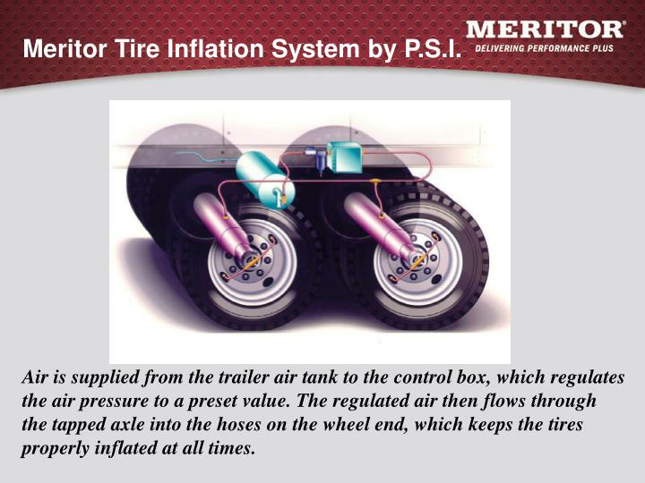 Meritor tire inflation system by p s i