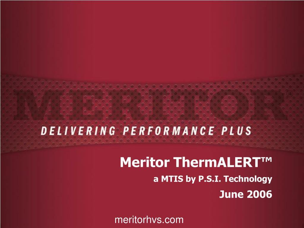 Meritor ThermALERT™
