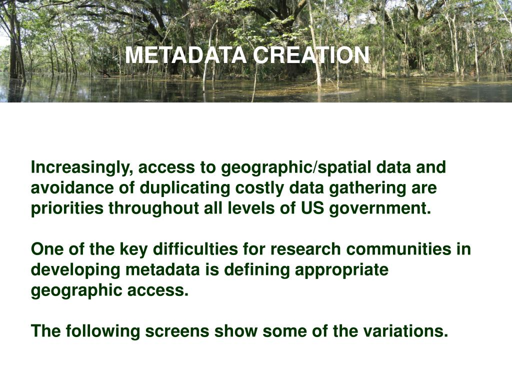 METADATA CREATION