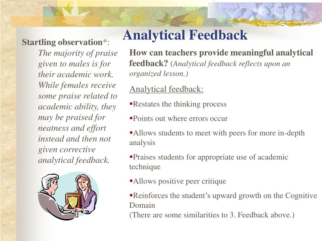 Analytical Feedback