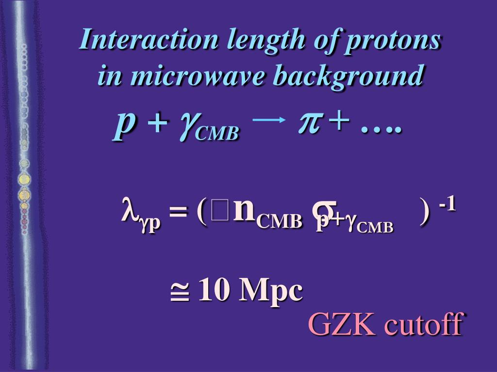 Interaction length of protons
