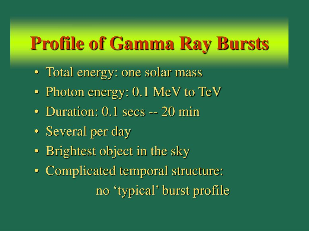 Profile of Gamma Ray Bursts