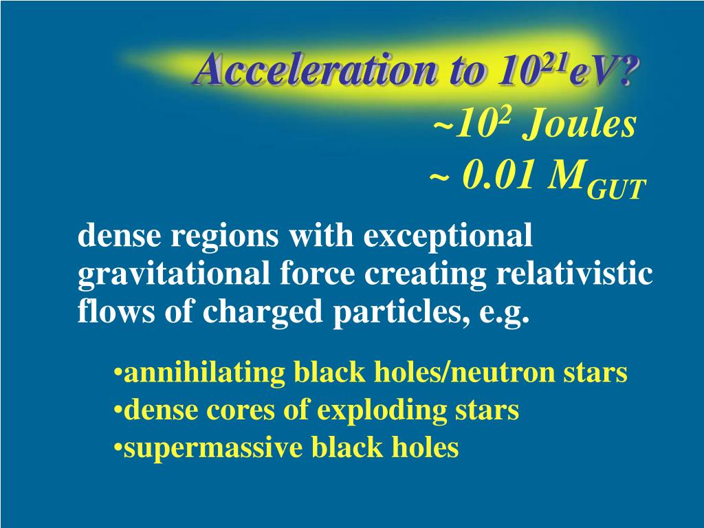 Acceleration to
