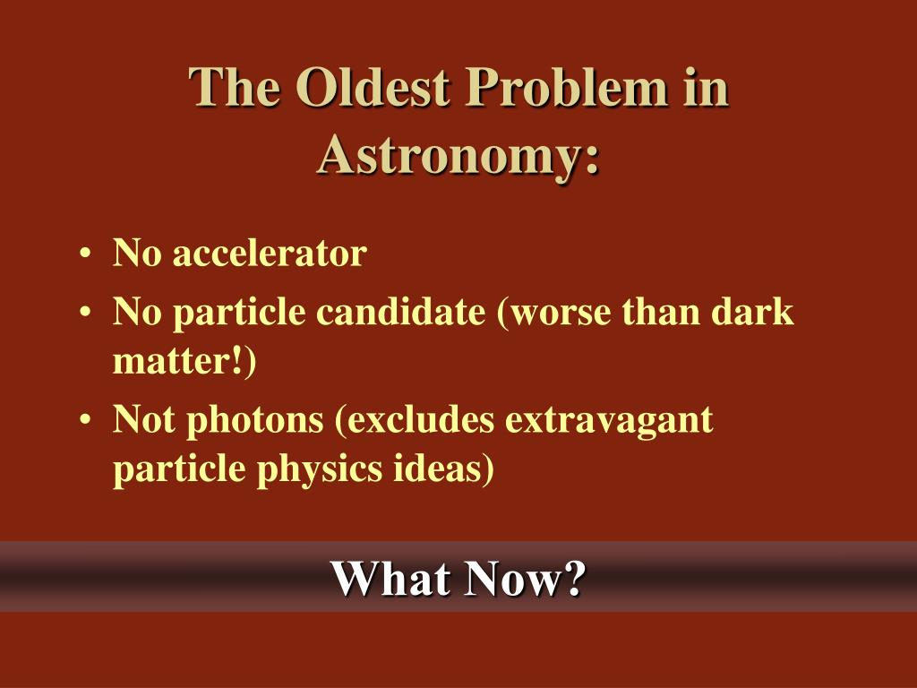 The Oldest Problem in Astronomy:
