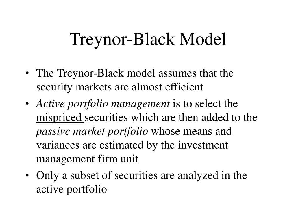 Treynor-Black Model