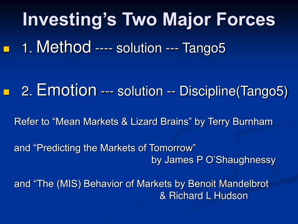 Investing's Two Major Forces
