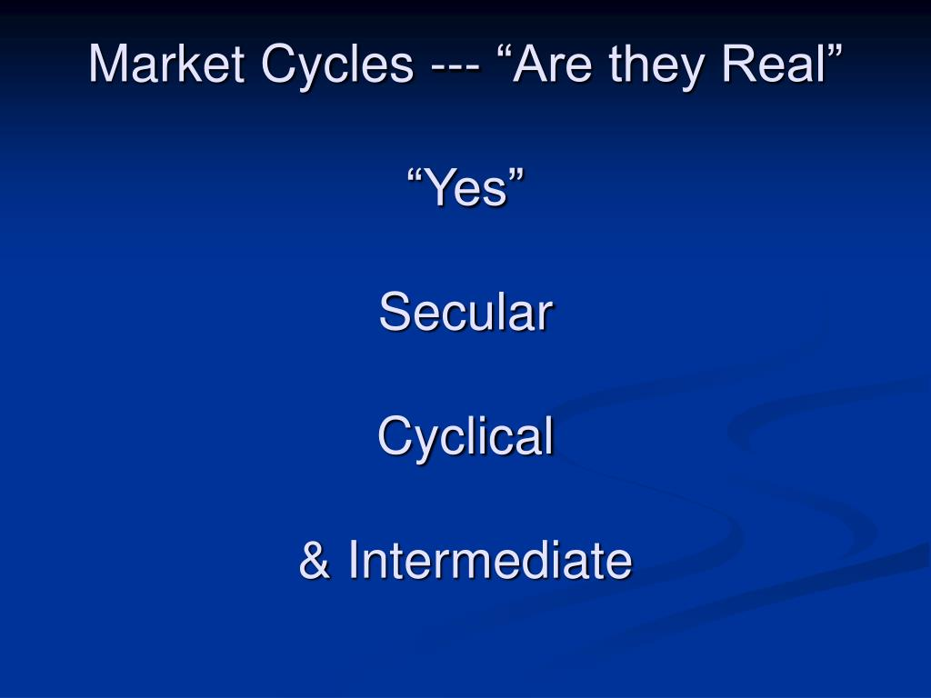 "Market Cycles --- ""Are they Real"""