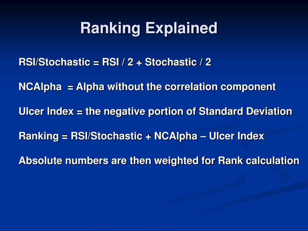 Ranking Explained