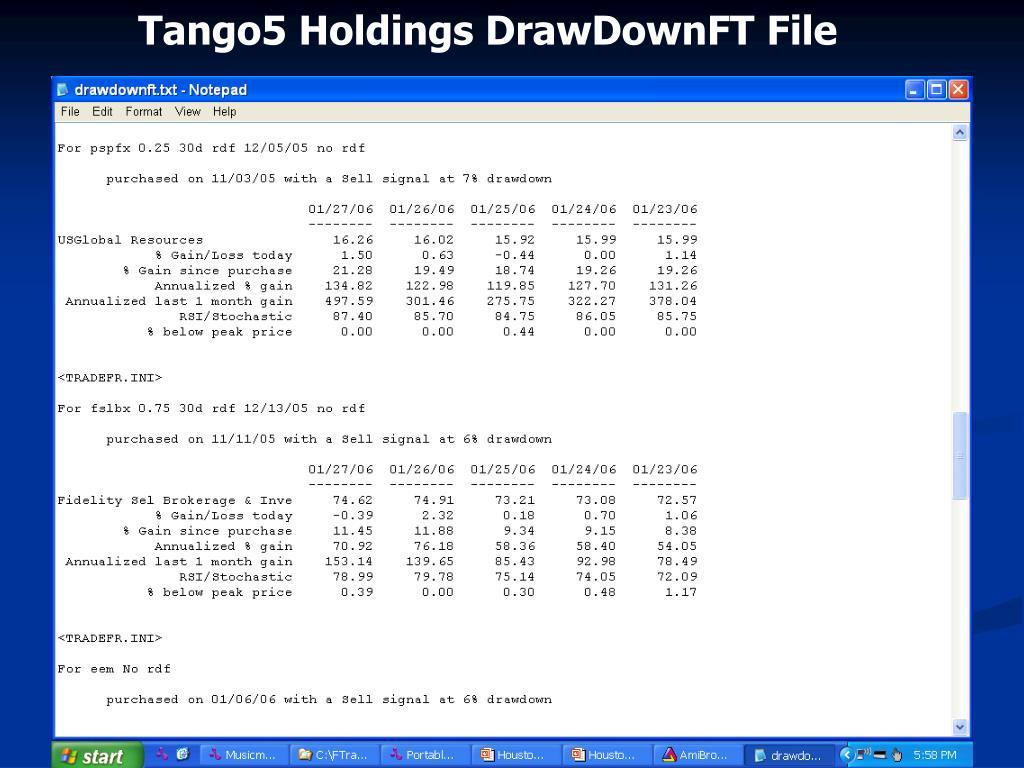 Tango5 Holdings DrawDownFT File