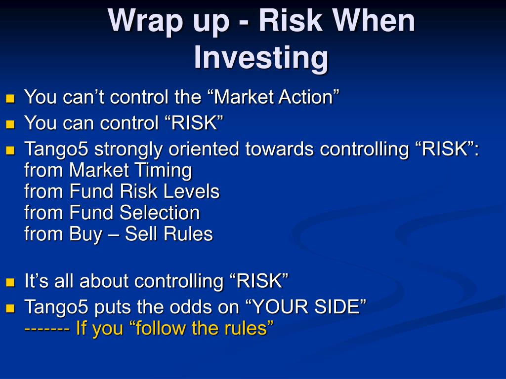 Wrap up - Risk When Investing