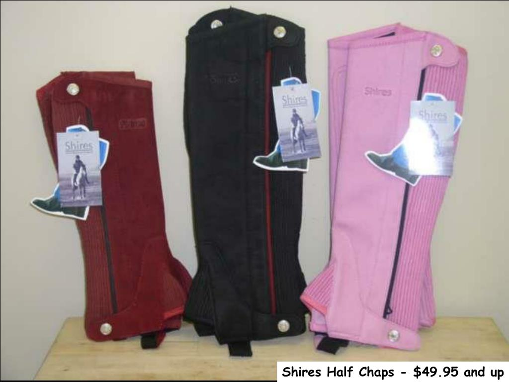 Shires Half Chaps - $49.95 and up