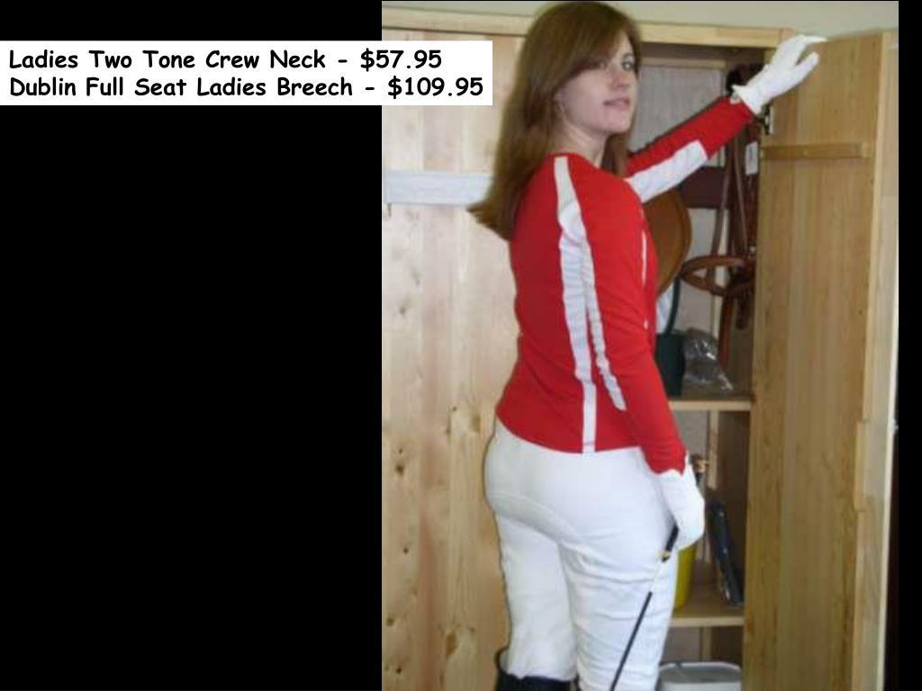 Ladies Two Tone Crew Neck - $57.95