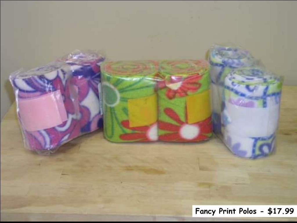 Fancy Print Polos - $17.99