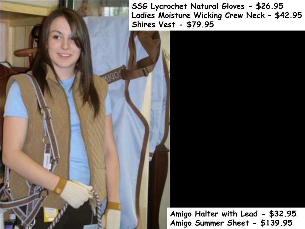 SSG Lycrochet Natural Gloves - $26.95