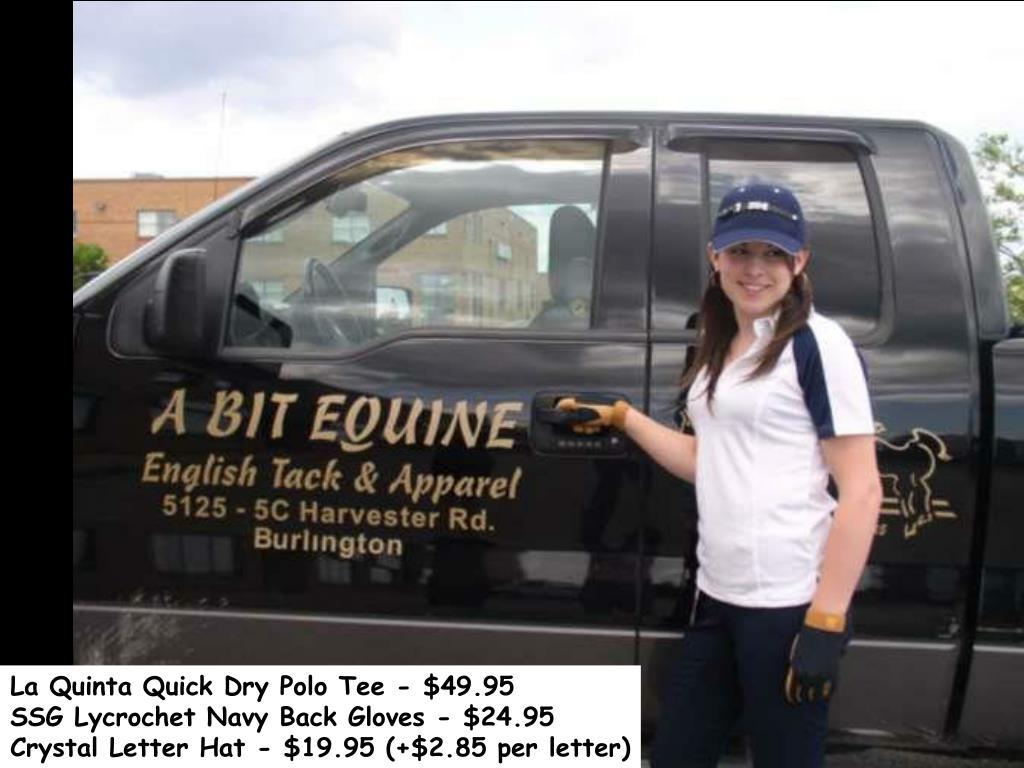 La Quinta Quick Dry Polo Tee - $49.95