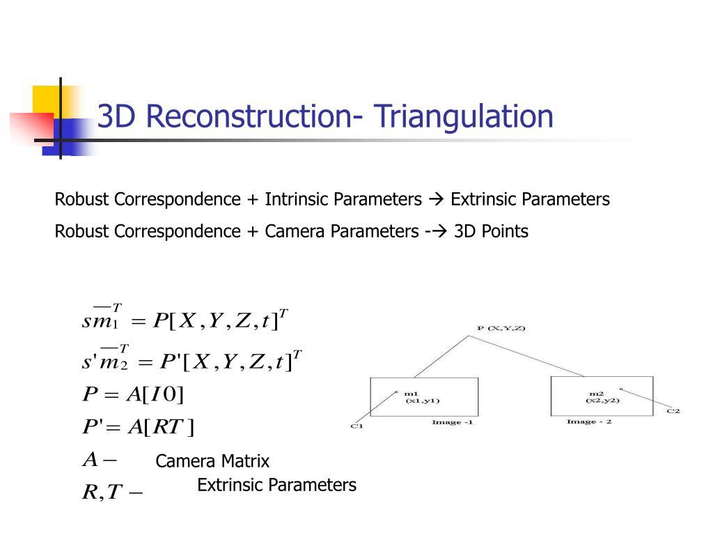 3D Reconstruction- Triangulation