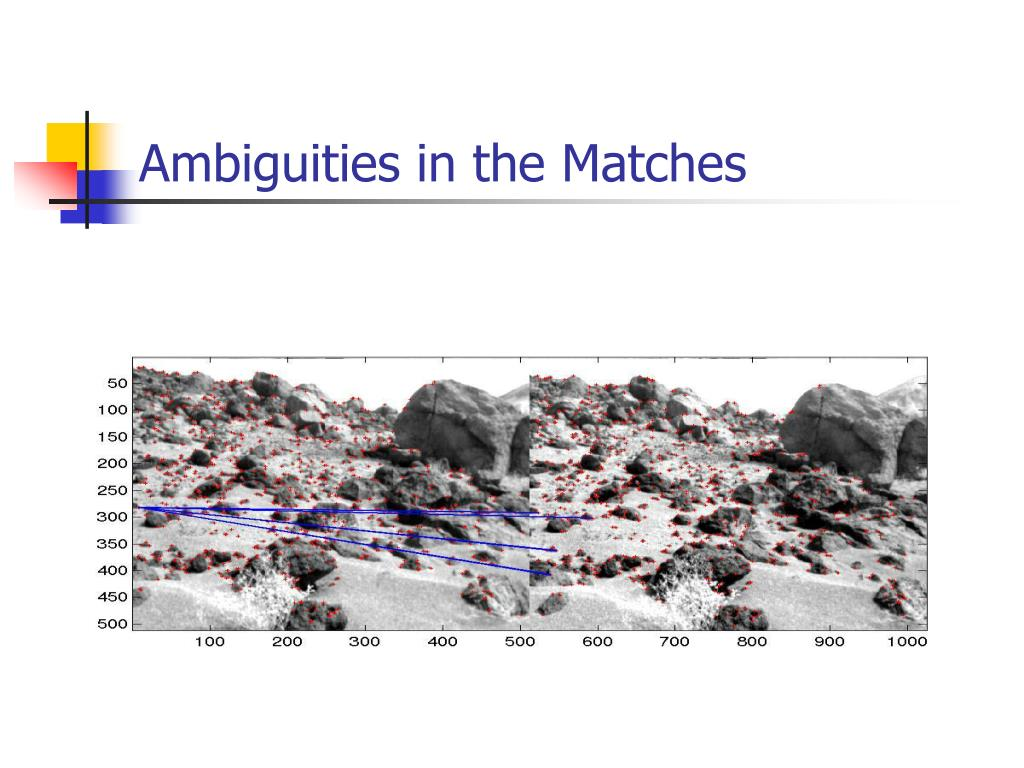 Ambiguities in the Matches