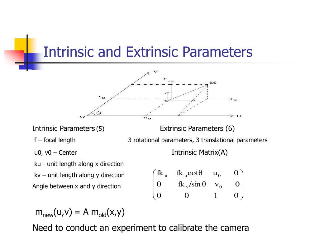 Intrinsic and Extrinsic Parameters