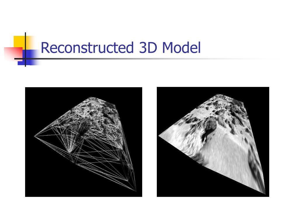 Reconstructed 3D Model