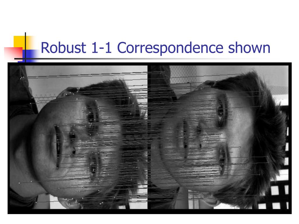 Robust 1-1 Correspondence shown