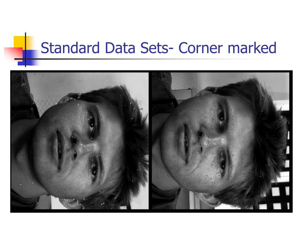 Standard Data Sets- Corner marked