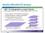 benefits of monolithic 3d synopsys