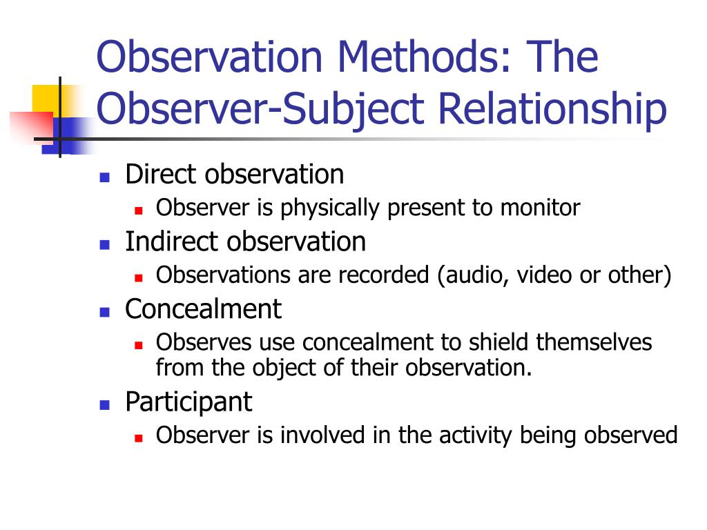 observation method of data collection pdf