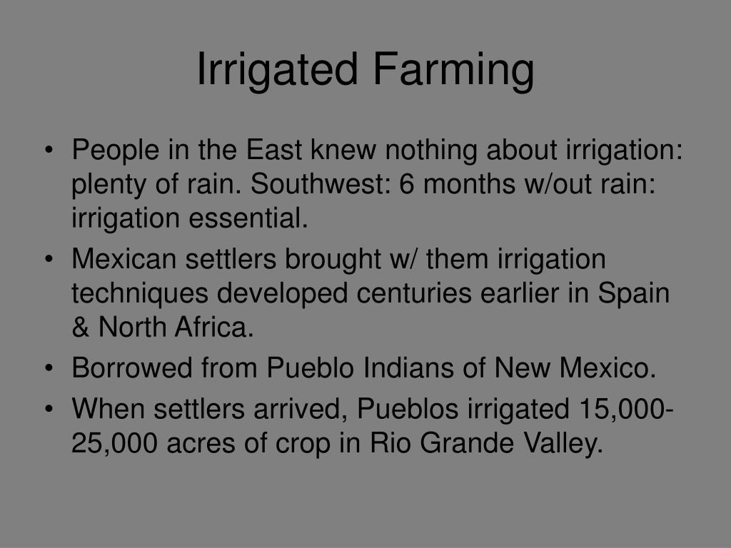 Irrigated Farming