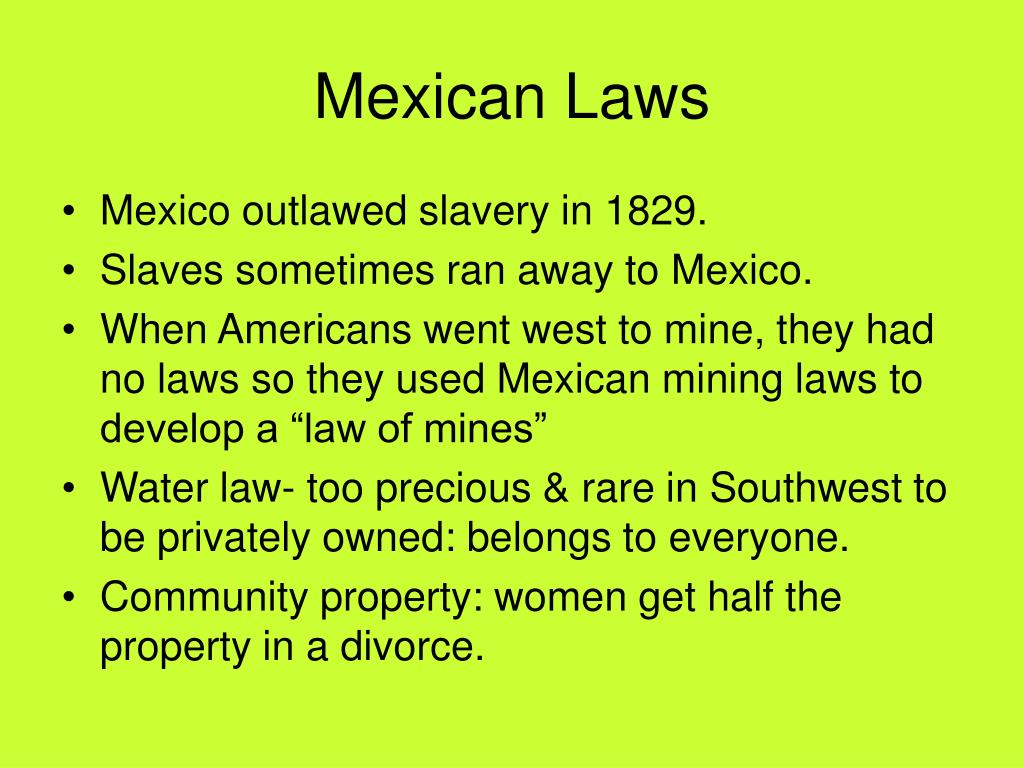 Mexican Laws